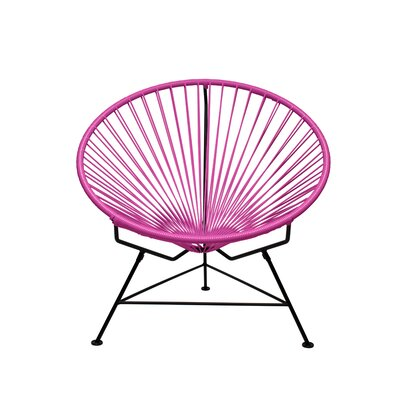 Papasan Chair Finish: Black, Upholstery: Pink