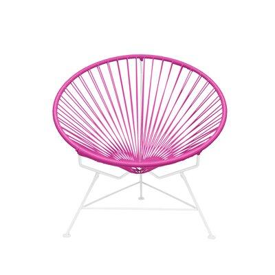 Papasan Chair Finish: White, Upholstery: Pink