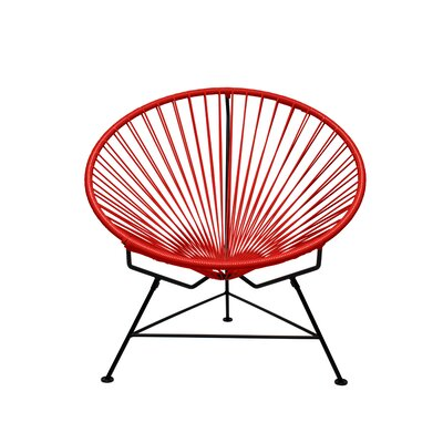Papasan Chair Upholstery: Chrome, Upholstery: Red