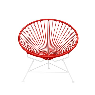 Papasan Chair Finish: White, Upholstery: Red
