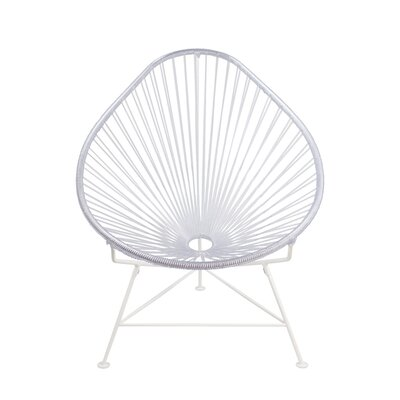 Canela Baby Pasadena Chair Weave Finish: White, Finish: Clear