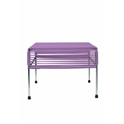 Cobbey Cocktail Ottoman Finish: Chrome/Orchid