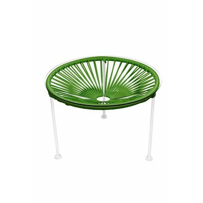 Zica End Table Base Finish: White, Top Finish: Cactus