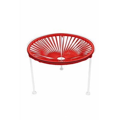 Zica End Table Base Finish: White, Top Finish: Red
