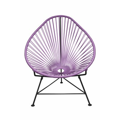 Canela Baby Pasadena Chair Finish: Pink, Weave Finish: Chrome