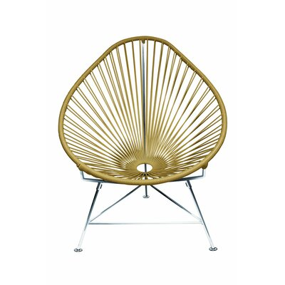 Canela Baby Pasadena Chair Weave Finish: Chrome, Finish: Gold