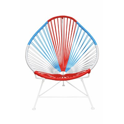 Acapulco Papasan Chair Color: USA, Color: White