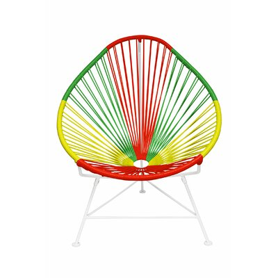 Canela Pear Papasan Chair Finish: Portugal, Color: White