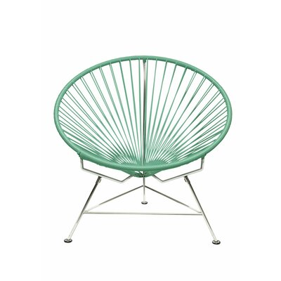 Papasan Chair Upholstery: Chrome, Upholstery: Seafoam
