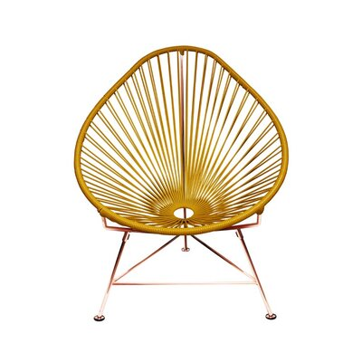 Borquez Papasan Chair Upholstery: Gold, Color: Copper