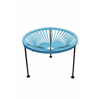 Zica End Table Base Finish: Black, Top Finish: Blue