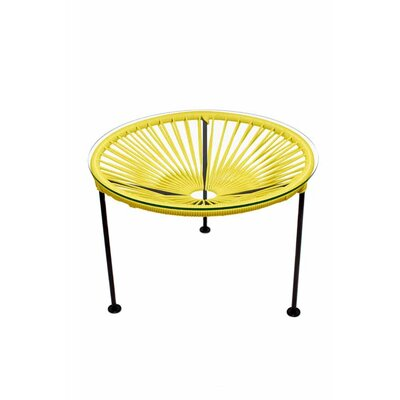 Zica End Table Base Finish: Black, Top Finish: Yellow
