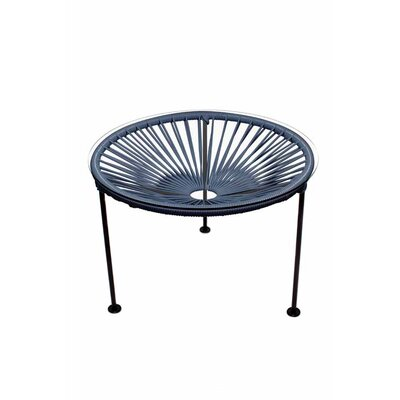 Zica End Table Base Finish: Black, Top Finish: Gray