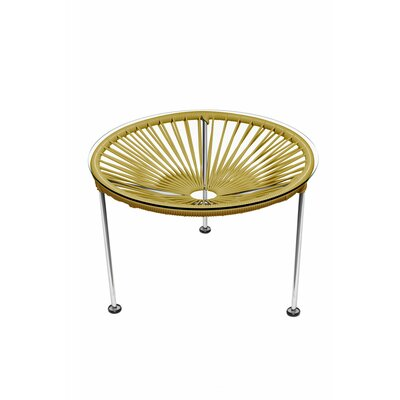 Zica End Table Base Finish: Chrome, Top Finish: Gold