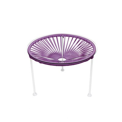 Zica End Table Base Color: White, Top Color: Orchid