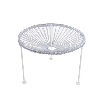 Zica End Table Base Finish: White, Top Finish: Clear