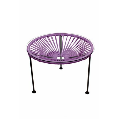 Zica End Table Base Finish: Black, Top Finish: Orchid