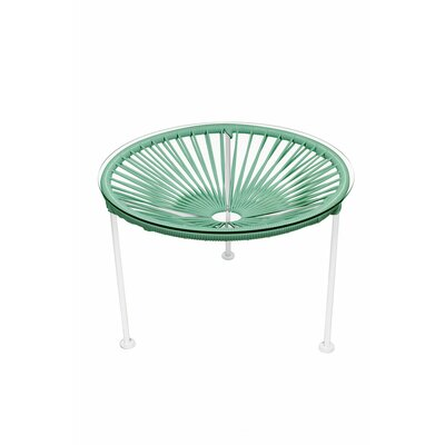 Zica End Table Top Finish: Seafoam, Base Finish: White