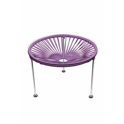 Zica End Table Base Color: Chrome, Top Color: Orchid