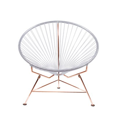 Papasan Chair Finish: Copper, Upholstery: Clear