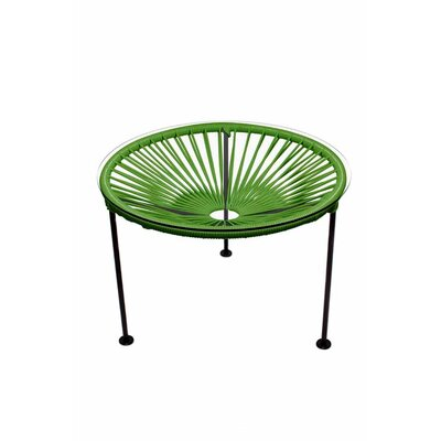 Zica End Table Base Finish: Black, Top Finish: Cactus