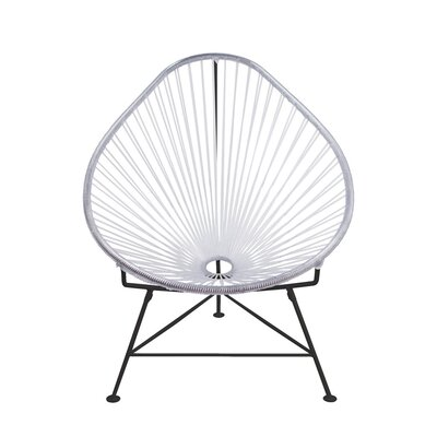 Canela Baby Pasadena Chair Weave Finish: Black, Finish: Clear