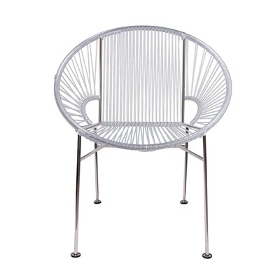 Mason Dining Chair Color: Clear/Chrome