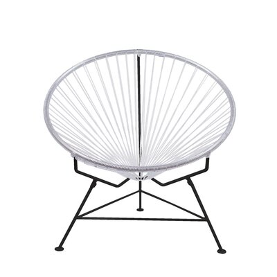 Papasan Chair Upholstery: Clear, Finish: Black
