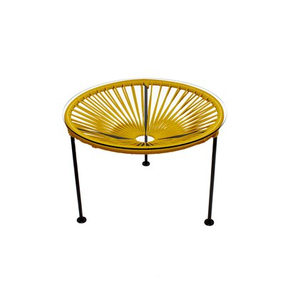 Zica End Table Base Color: Chrome, Top Color: Gold