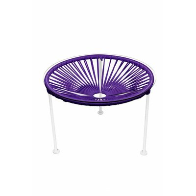 Zica End Table Base Finish: White, Top Finish: Purple