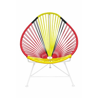 Canela Pear Papasan Chair Frame Finish: White, Seat Finish: Germany