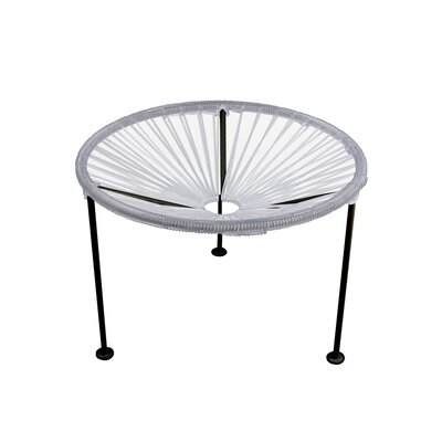 Zica End Table Base Finish: Black, Top Finish: Clear