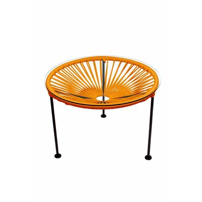 Zica End Table Base Finish: Black, Top Finish: Orange