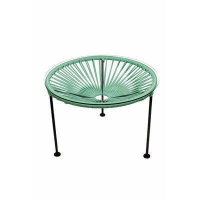 Zica End Table Base Finish: Black, Top Finish: Seafoam