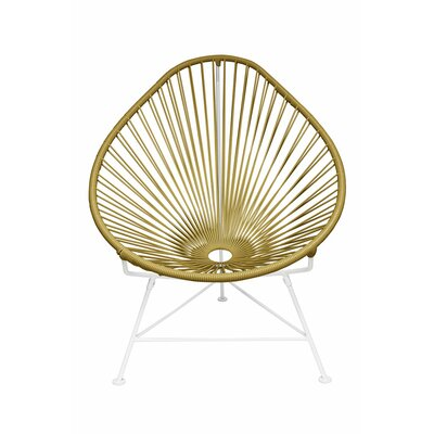 Canela Baby Pasadena Chair Upholstery: White, Finish: Gold