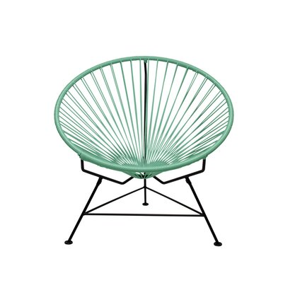 Papasan Chair Finish: Black, Upholstery: Seafoam