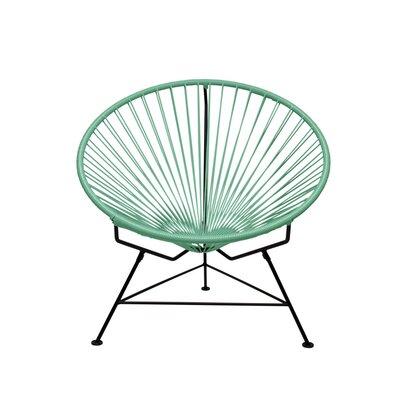 Papasan Chair Finish: White, Upholstery: Seafoam