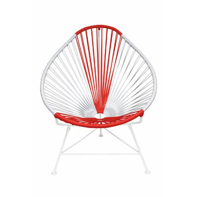 Canela Pear Papasan Chair Frame Finish: White, Seat Finish: Japan