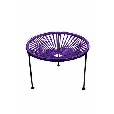 Zica End Table Base Finish: Black, Top Finish: Purple