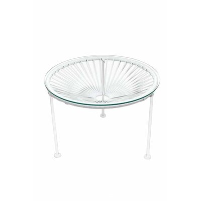 Zica End Table Base Finish: White, Top Finish: White