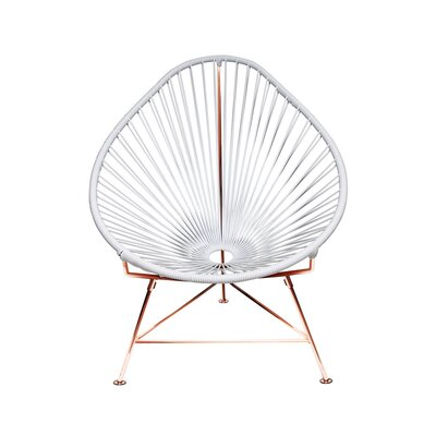 Canela Baby Pasadena Chair Weave Finish: Copper, Finish: White