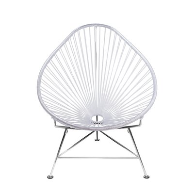 Canela Baby Pasadena Chair Weave Finish: Chrome, Finish: Clear