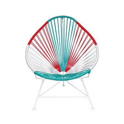 Canela Pear Papasan Chair Frame Finish: White, Seat Finish: Mexico