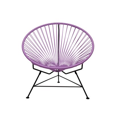 Papasan Chair Upholstery: Chrome, Upholstery: Orchid