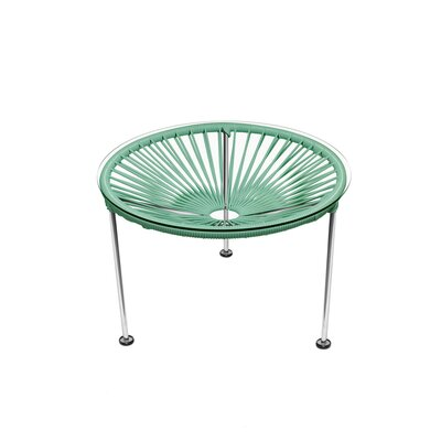 Zica End Table Top Finish: Seafoam, Base Finish: Chrome
