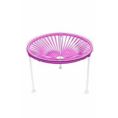 Zica End Table Base Finish: White, Top Finish: Pink