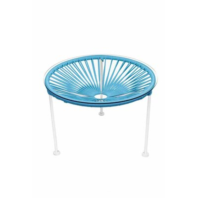 Zica End Table Base Finish: White, Top Finish: Blue