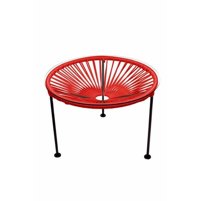 Zica End Table Base Finish: Black, Top Finish: Red