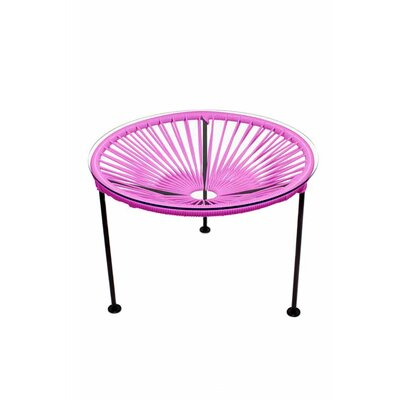 Zica End Table Base Finish: Black, Top Finish: Pink