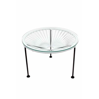 Zica End Table Base Finish: Black, Top Finish: White